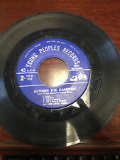 """Young peoples records, Around the campfire Gene Lowell Chorus 7"""" 45RPM"""