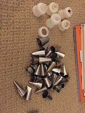 Lot of 40 Wilton Icing Cake Decorating Pastry Tips Plus Bag Couplers