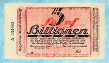 GERMANY Duisburg 5 Billionen Mark 1923 UNC