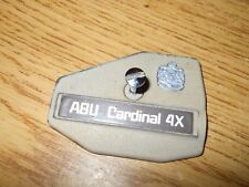 Abu Garcia Cardinal 4X Side Plate Reel Cover Fishing W/ Logo Tan