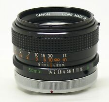 Canon 50mm f/1.4 FD SSC BL breechlock manual focus lens EXC++