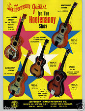 1965 PAPER AD Jefferson Toy Co Roy Rogers Hootenanny Hawaiian Toy Play Guitar