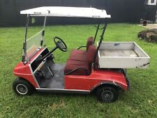 New listing  Red Club Car DS utility golf Cart 2 passenger seat with canopy 36v