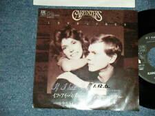 "CARPENTERS KAREN CARPENTER Japan 1989 ORIGINAL SSP-75 Promo 7""45 IF I HAD YOU"
