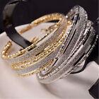New Fashion Women's Rhinestone Crystal Hoop Round Big Earrings Ear Stud Jewelry