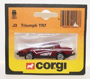 corgi juniors Rare Triumph TR7 very nice  MINT
