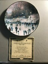 Thomas Kincade's Yuletide Memories Skater's Delight Collector Plate