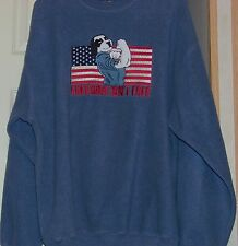 "Big Dogs ""Freedom Isn't Free"" polar dogs Fleece Sweat Shirt Fleece, blue XL"