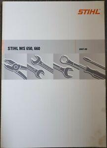 Reparaturanleitung für Stihl MS 650, 660