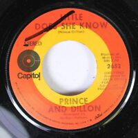 Rock Nm! 45 Prince And Dillon - Little Does She Know / Diggin' Time On Capitol