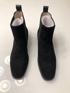 Black Stuart Weitzman Suede Ankle Booties Size 7 Orig $535