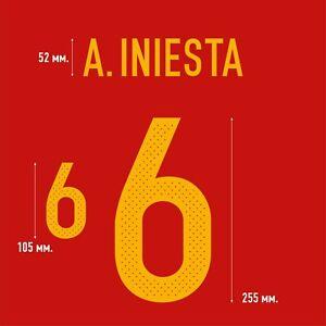 A. Iniesta 6. Spain Home football shirt 2016 - 2017 FLEX NAMESET NAME SET PRINT