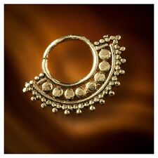 Brass Tragus Afghan Septum Ring, Conch Jewelry. Snug Ring (code 23)