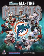 MIAMI DOLPHINS All-Time Greats Glossy 8x10 Photo Marino Csonka Clayton Poster
