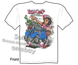 Anglia Gasser Rat Fink T shirt, Ed Roth Tshirt, Wild Gals Tee, Sz M L XL 2XL