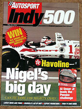 Autosport 1994 INDY 500 GUIDE - Nigel Mansell's Big Day
