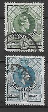 SWAZILAND , 1933 , GEORGE VI , SET OF 2  STAMPS , PERF , USED