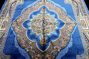10X7 EXQUISITE NEW 1000KPSI HQ POWER LOOMED ART SILK BENAM TABRIZZ TURKISH RUG