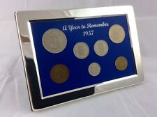 61st Birthday or Anniversary Gift - 1957 Silver Framed Coin Year Boxed Set