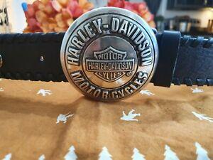 Harley Davidson Black Leather Belt   99545-04VM    Size 42