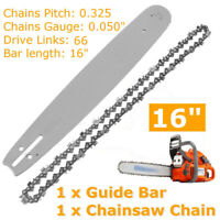 "16"" Guide Bar & Saw Chain Set 0.325'' 0.050'' 66DL for Husqvarna 36 41 50 51"
