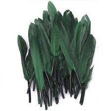 50pcs Tinted Goose feathers 4-6 inches Dark Green