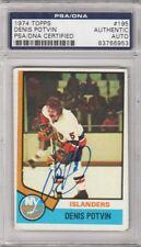Denis Potvin New York Islanders 1974 Topps Signed AUTOGRAPH PSA DNA 83766953