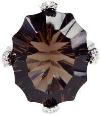 Smoky Quartz Oval Fine Gemstone Rings