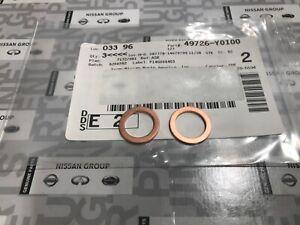 NEW OEM NISSAN INFINITI Power Steering Hose Copper Washer Set of 2 49726Y0100