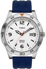 Timex T2N696 para Hombre de Acero Inoxidable Reloj 50 M Wr Indiglo Dial Blanco De Luz De Fondo