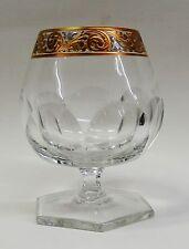 Baccarat France Kristallglas geschliffene Cognac Schwenker Gold handgemalt ~70er