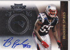 Brandon Spikes Auto #8/50 RC - New England Patriots - 2010 Panini