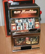 2 in 1 Slot Machine and Money Box Casino Style No Batteries Needed