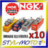 KIT 10 x CANDELE D'ACCENSIONE SV. NGK SPARK PLUG B8ES STOCK NUMBER 2411