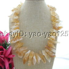 23'' Natural 35mm Citrine Rough Crystal Necklace