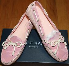 $98 COLE HAAN GRANT PINK MULTI CANVAS LOAFERS SZ 5.5B