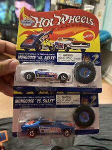 Hot Wheels Snake & Mongoose Vintage Collection Mongoose vs Snake Set 1995 New