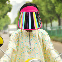 Summer Wide Brim UV Protection Cap Sun Visor Headband Rotating Face Shield Hat