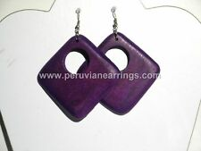 Wholesale of 12 pairs Wood earrings # 426 Square style