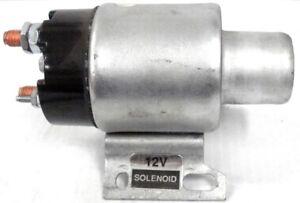 Solenoid For Delco Starter 12v W/ Curved Bracket & 4 Terminals MF IH Deere Ford