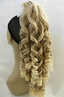 """New Long Synthetic Curly Mix Blonde Claw Clip Ponytail Hair Piece Extension 22"""""""