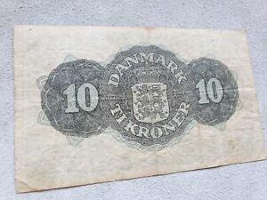 10 kroner 1947 Denmark banknote