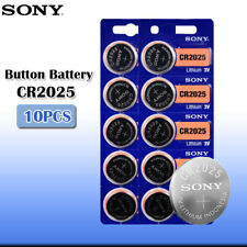 10 x SONY CR2025 Lithium Battery 3V Exp 2027 Pack 10 pcs Coin Cell