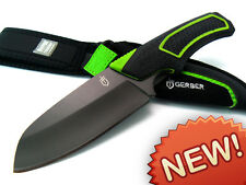Gerber 23cm FREESCAPE 7Cr17MoV FIXED BLADE Camp Kitchen Knife + SHEATH