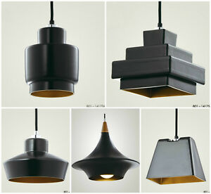 Modern Retro Designer Lustre Loft Black Ceiling Pendant Light Lamp Shade