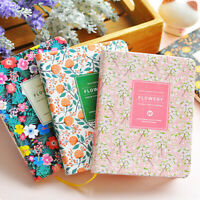 Durable Floral Flower Schedule Note Book Diary Weekly Planner School Stationery