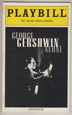 """George Gershwin Alone""  Broadway Playbill  2001  Hershey Felder"