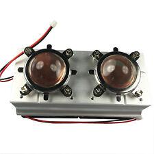 Twin 60-80° 44mm Lens+Reflector Bracket+100W LED Aluminium Heat Sink Cooling fan