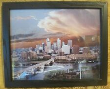 Framed View from Mississippi STEVEN LINDER  #50 MINNEAPOLIS 2002