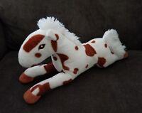 Adorable Brown & White Horse Pony Plush Stuffed Animal  15''